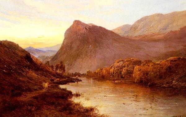 Breanski Alfred de Sunset In The Glen